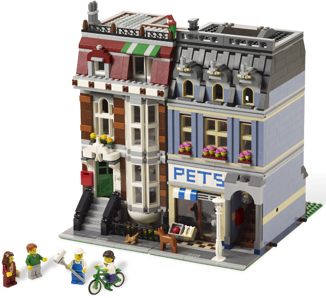 BrickLink - Set 10218-1 : Lego Pet Shop [Modular Buildings