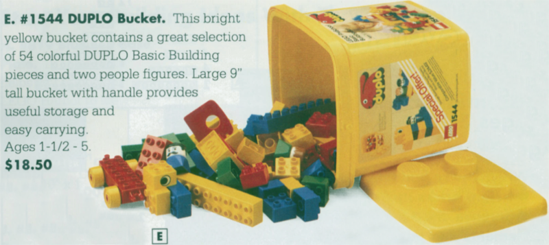 Bricklink Set 1544 1 Lego Medium Bucket Duplobasic Set