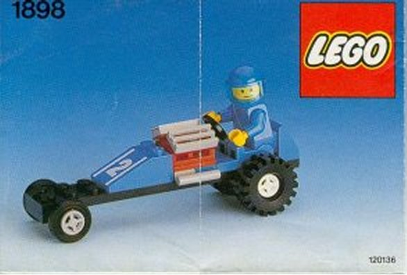 LEGO Set 1898 Dragster Car 1989 Weetabix Promo Complete with Instructions