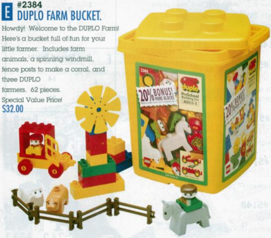 Bricklink Set 2384 1 Lego Farm Bucket Duplobasic Set
