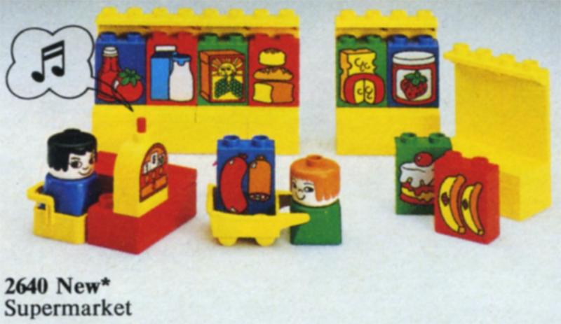 Bricklink Set 2640 1 Lego Grocery Store Supermarket Duplo