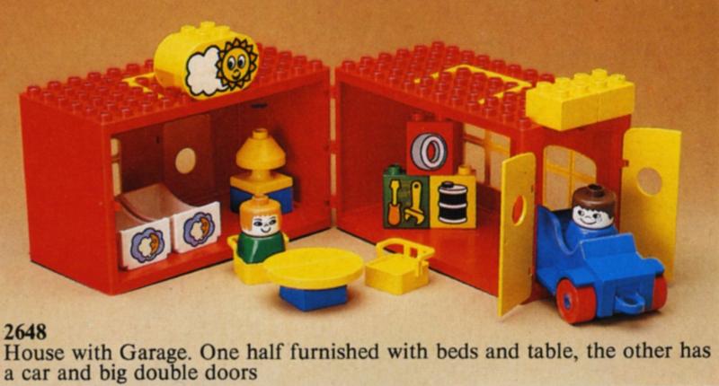 Uitgelezene BrickLink - Set 2648-1 : Lego House with Garage [Duplo:Playhouse IC-47