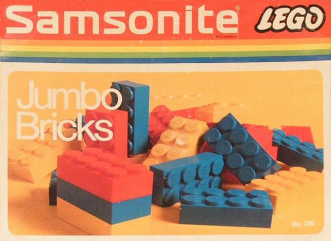 BrickLink - Set 300-2 : Lego Jumbo Bricks [Samsonite:Jumbo Bricks
