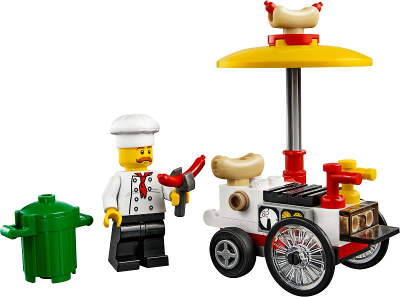 Lego City Hotdog Stand Cart Chef Vendor 30356 Polybag New Sealed!