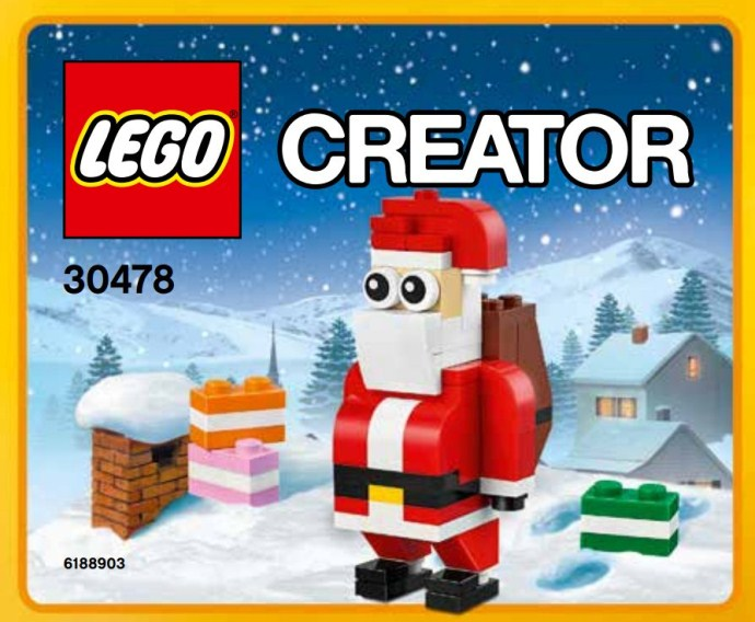 LEGO 30478 CREATOR Jolly Santa Polybag 74 pieces