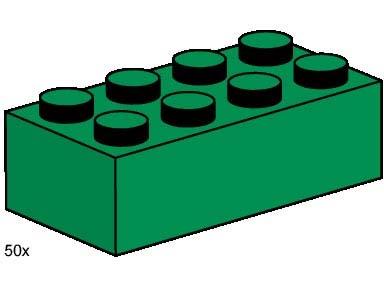 LEGO x 100 Dark Green Brick 1 x 1 NEW bulk lot
