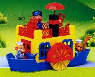 Bricklink Set 3673 1 Lego Steamboat Fabulandharbor