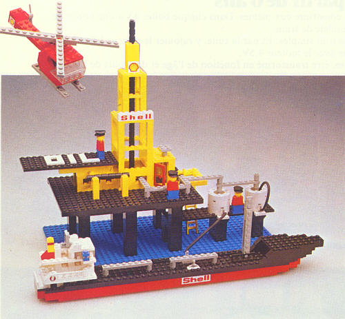 BrickLink - Set 373-1 : Lego Offshore Rig with Fuel Tanker [Legoland