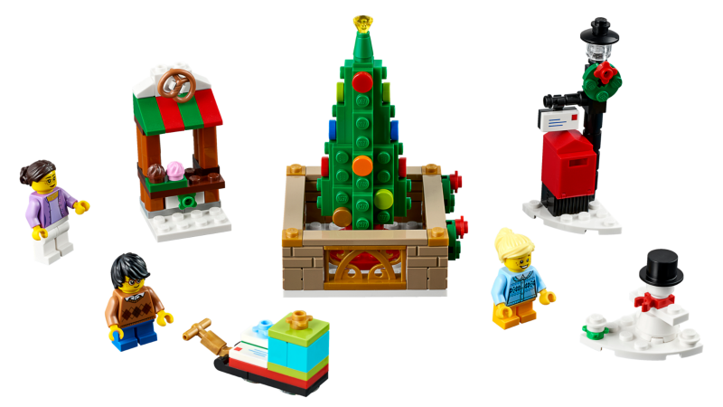 Lego Weihnachtsmarkt.Bricklink Set 40263 1 Lego Christmas Town Square Holiday