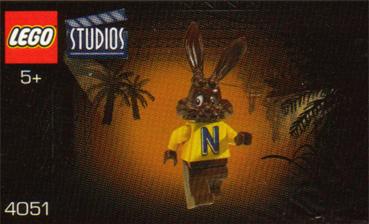 SEALED POLYBAG 2001 NEW RARE LEGO NESQUIK BUNNY QUICKY MINIFIGURE RABBIT 4051