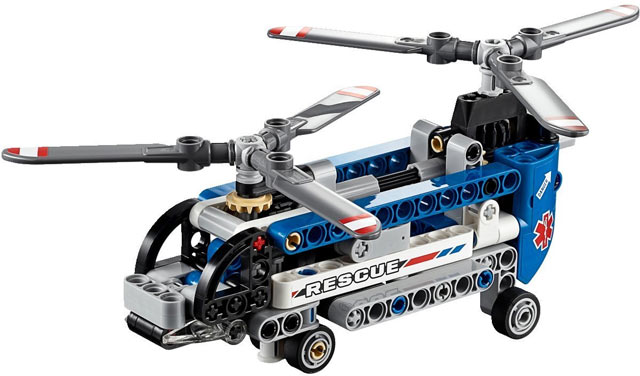 Bricklink Set 42020 1 Lego Twin Rotor Helicopter Technicmodel