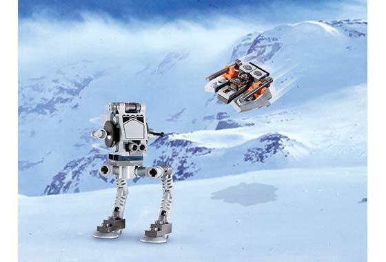 BrickLink - Set 4486-1 : Lego AT-ST & Snowspeeder - Mini