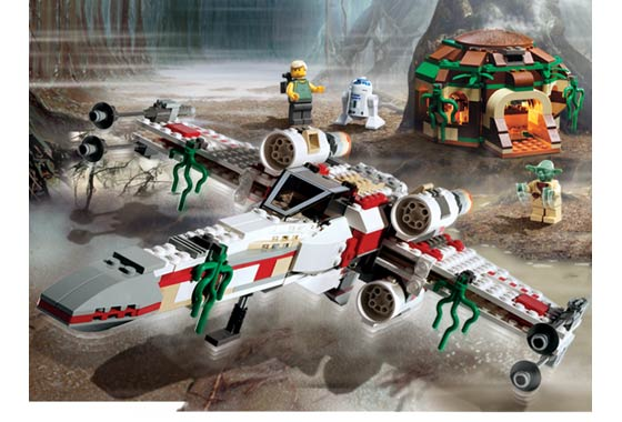 Bricklink Set 4502 1 Lego X Wing Fighter Dagobah Blue Box