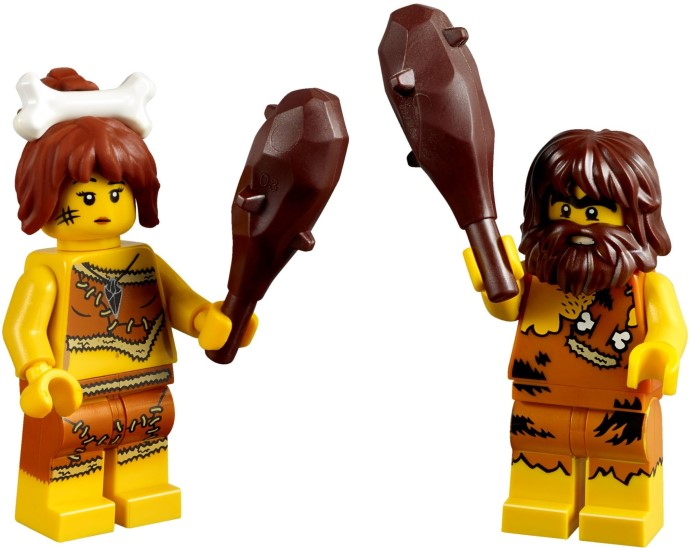 5004936 LEGO Iconic Caveman /& Cavewoman Minifigure Set 11 Pieces Pcs NEW