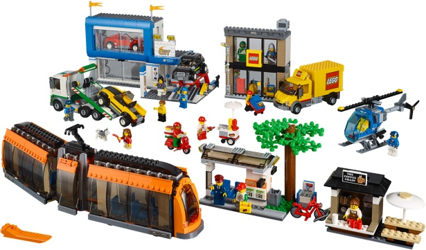 BrickLink - Set 60097-1 : Lego City Square [Town:City:Traffic