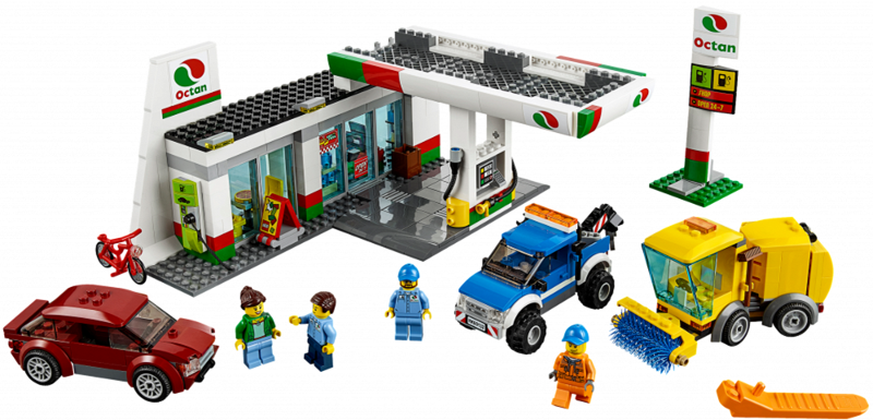 BrickLink - Set 60132-1 : Lego Service Station [Town:City:Gas ...