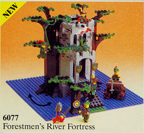 Bricklink Set 6077 2 Lego Forestmens River Fortress Castle