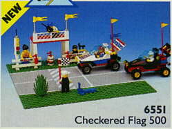 BrickLink - Set 6551-1 : Lego Checkered Flag 500 [Town:Classic Town:Race] -  BrickLink Reference Catalog