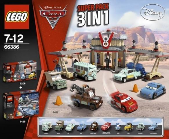 Bricklink Set 66386 1 Lego Cars 2 Super Pack 3 In 1