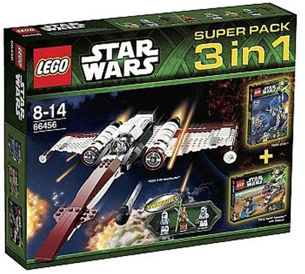 BrickLink - Set 66456-1 : Lego Star Wars Super Pack 3 in 1 (75002 ...