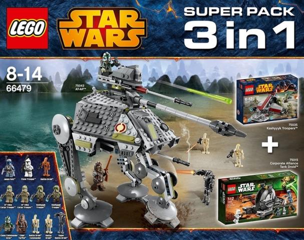 bricklink - set 66479-1 : lego star wars super pack 3 in 1 (75015