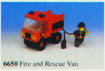 LEGO City Classic Town Fire 6650 Fire And Rescue Van Complete