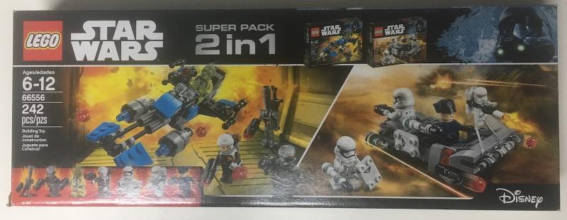 BrickLink - Set 66556-1 : Lego Star Wars Super Pack 2 in 1 (75166 ...