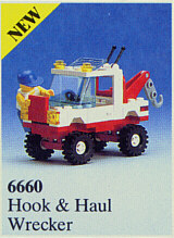 BrickLink - Set 6660-1 : Lego Hook & Haul Wrecker (Hook and Haul Wrecker)  [Town:Classic Town:Off-Road] - BrickLink Reference Catalog