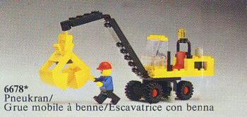 LEGO YELLOW CRANE BUCKET SPRING LOADED PIECE