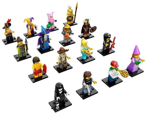 Series 12 Lego Jester Collectible Minifig Figure 100/% Complete