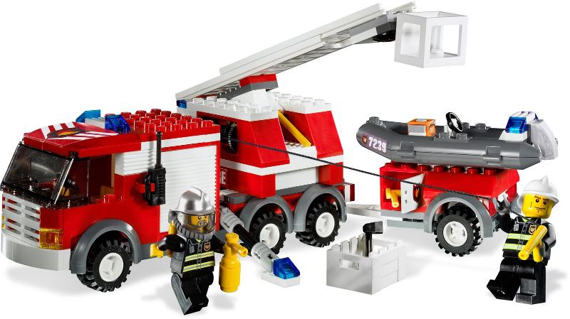 Bricklink Set 7239 1 Lego Fire Truck Towncityfire