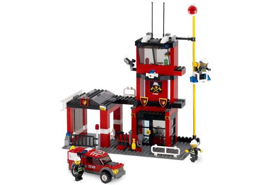 BrickLink - Set 7240-1 : Lego Fire Station [Town:City:Fire] - BrickLink  Reference Catalog