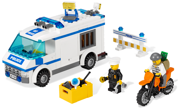 Bricklink Set 7286 1 Lego Prisoner Transport Towncitypolice