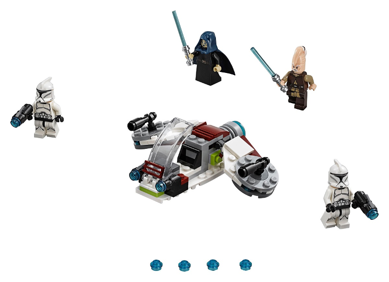 Bricklink Set 75206 1 Lego Jedi And Clone Troopers Battle Pack Star Wars Star Wars Episode 2 Bricklink Reference Catalog