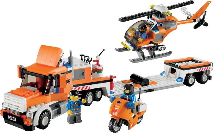Bricklink Set 7686 1 Lego Helicopter Transporter Towncity