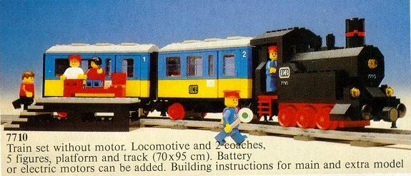 Bricklink Set 7710 1 Lego Push Along Passenger Steam Train