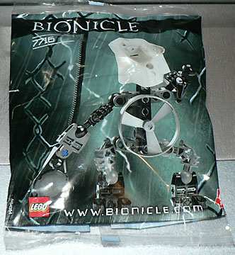 LEGO BIONICLE 7716 QUICK GOOD GUY WHITE complete figure FREE SHIPPING