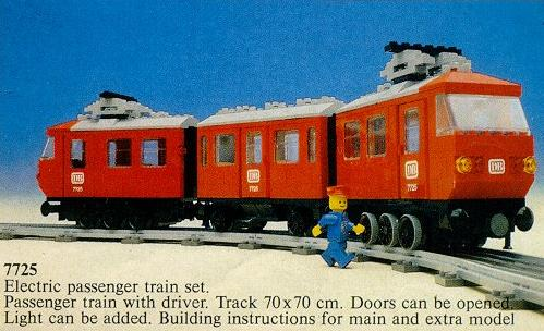 Bricklink Set 7725 1 Lego Electric Passenger Train Train12v