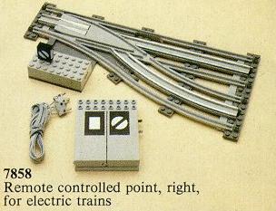 BrickLink - Set 7858-1 : Lego Remote Controlled Points Right 12v  [Train:Supplemental:12V] - BrickLink Reference Catalog
