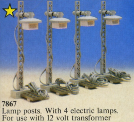 BrickLink - Set 7867-1 : Lego 12V Train Light Posts  [Train:Supplemental:12V] - BrickLink Reference Catalog