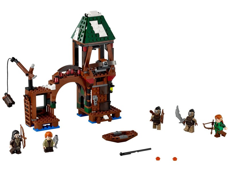 *NO MINIFIGURES* NEW LEGO Hobbit 79016 Attack on Lake-town Set with manual
