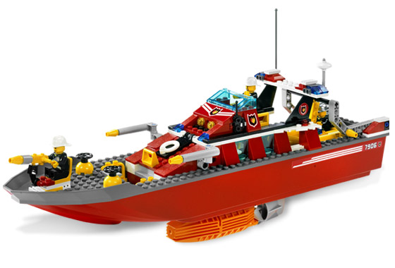 Bricklink Set 7906 1 Lego Fire Boat Fireboat Towncityfire