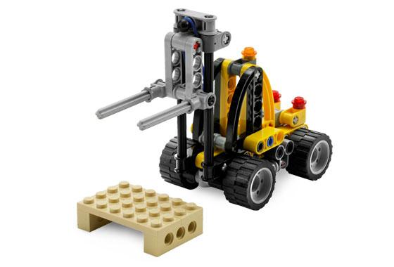 Bricklink Set 8290 1 Lego Mini Forklift Technicmodel