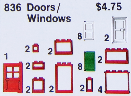 Lego Doors and Windows Parts Pack  sc 1 st  BrickLink & BrickLink - Set 836-1 : Lego Doors and Windows Parts Pack [Universal ...