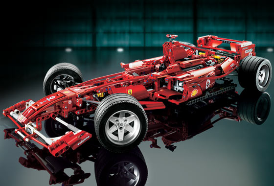 Ersatzset Aufkleber//Sticker Set für LEGO Set 8674 Ferrari F1 Racer 1:8 2006
