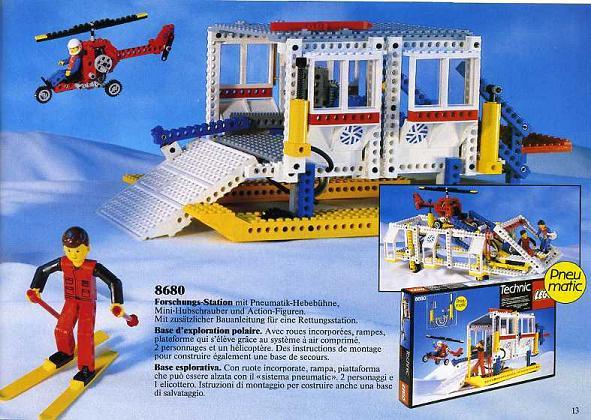 Bricklink Set 8680 1 Lego Arctic Rescue Base Technicarctic
