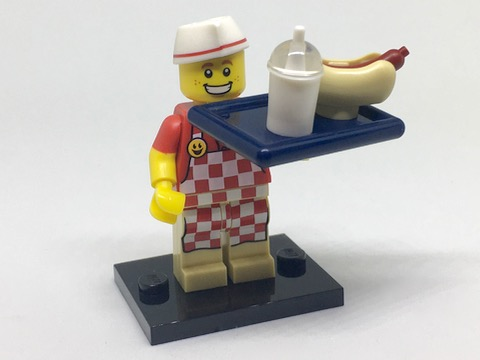 Genuine Lego minifigures The hot dog man from series 17