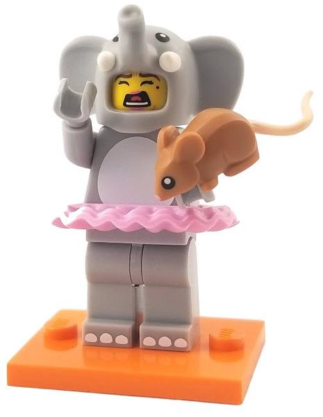 GENUINE LEGO MINIFIGURES MINIFIG Series 18 Elephant Girl Complete Series col18-1