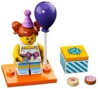 Lego Birthday Party Girl Series 18 Complete Set With Stand And Accessories