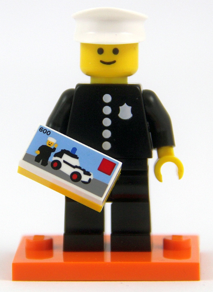 OFFICER 8 LEGO Minifigure Mint Minifig Mini Figure Space Police